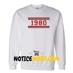 1980 Striped Unisex Sweatshirts