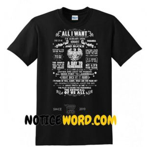 A Day To Remember All I want 2nd sucks T Shirt