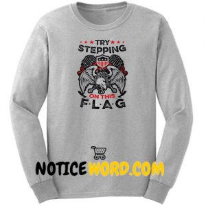 American Patriot Sweatshirt, Veteran's Day Patriotism US Eagle Fleece Sweater