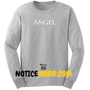 Angel Font Sweatshirt unisex custom clothing