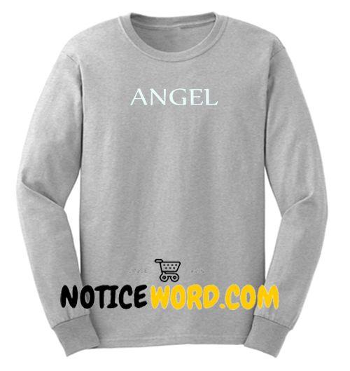 Angel Font Sweatshirt unisex custom clothing