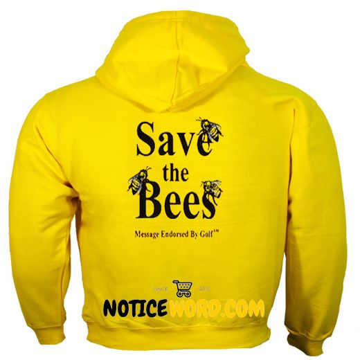 Save The Bees back Hoodie