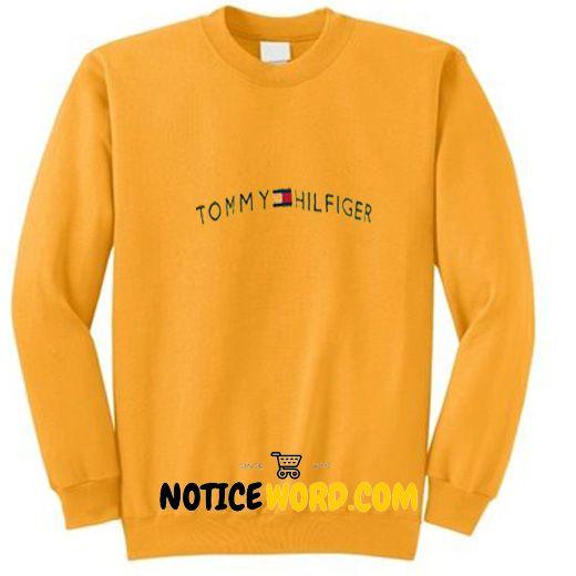 0f70e1bc Vintage Tommy Hilfiger Yellow Half Zip Sweatshirt