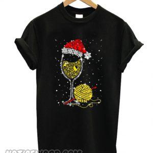 Yarn And Champagne Wine Glass T-Shirt