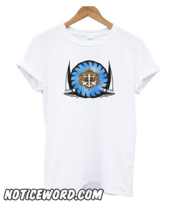 Yacht,anchor and rope smooth T-Shirt