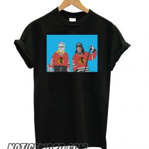 Wayne & Garth Street Hockey Graphic smooth T shirt