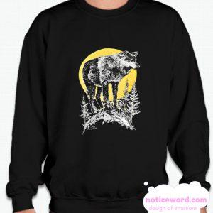 90s Wolf Full Moon smooth Sweatshirt