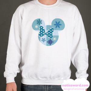 Minnie Mouse Christmas Polkadot Bow smooth Sweatshirt