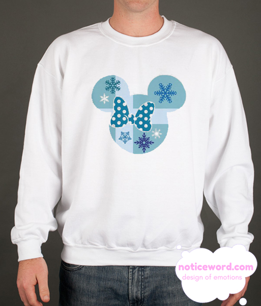 Minnie Mouse Christmas Polkadot Bow smooth Sweatshirt