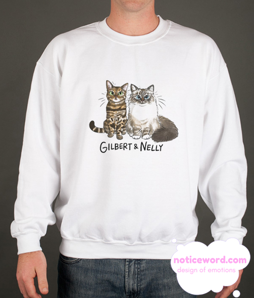 NELLY AND GILBERT smooth Sweatshirt