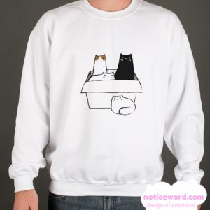 4 Cats in a Box smooth Sweatshirt