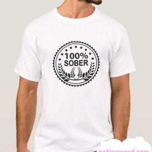 100 Percent Sober smooth T Shirt