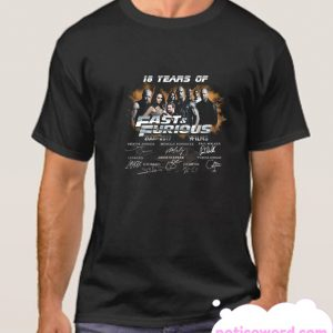 18 Years of Fast and Furious 2001 2019 smooth T Shirt