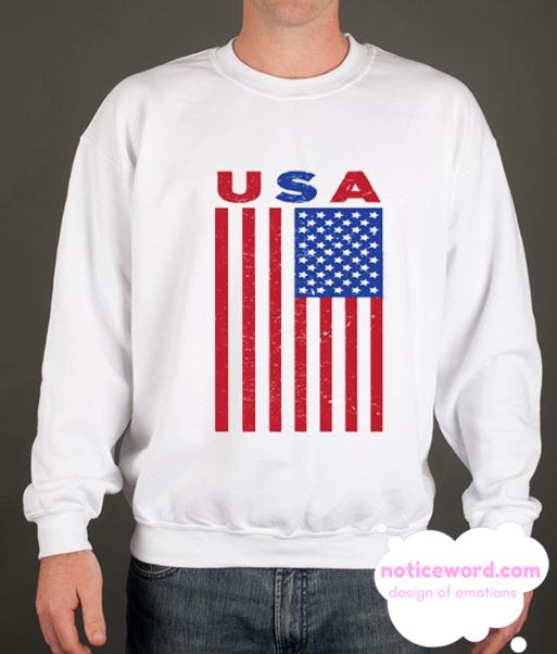 USA Flag smooth Sweatshirt