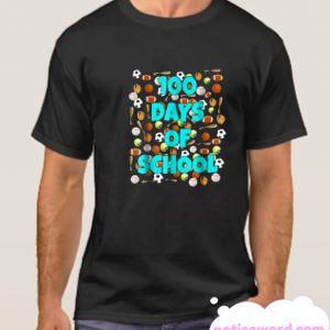 100 Days of School T Shirt for kids or teachers - Sports smooth T Shirt