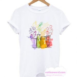 Watercolor Set Of Smoothie T Shirt