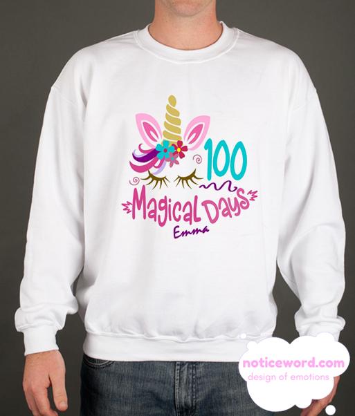 100 Day Of School Shirt Ideas smooth Sweatshirt