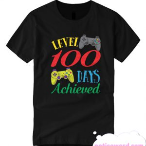 100 Days Of School Level Achieved Video Gaming Smarter smooth T Shirt