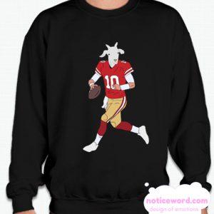 Jimmy Garoppolo The GOAT smooth Sweatshirt