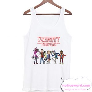 Stranger Things and Rick and Morty Tank Top