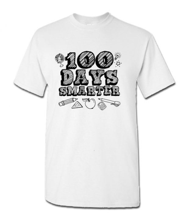 100 Days Smarter Funny 100 Days Of School DH T Shirt