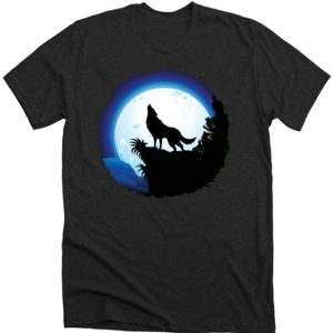 Wolf Howling at Blue Moon DH T-Shirt