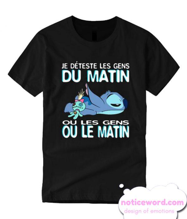Stitch Je deteste Les gens du matin ou Les gens ou le matin T-shirt