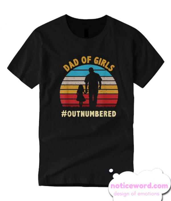 Vintage Dad Of Girls Outnumbered Father Day T-shirt