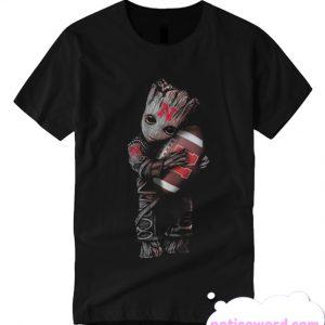 Baby Groot hug Nebraska Cornhuskers T Shirt