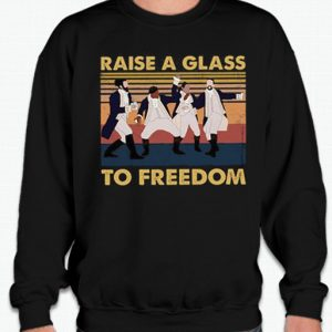 Raise a Glass to Freedom smooth graphic Sweatshirt
