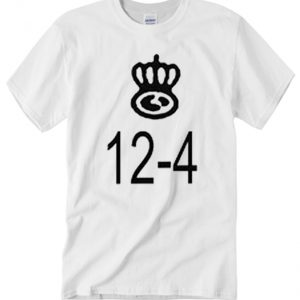 12-4 White smooth graphic T Shirt