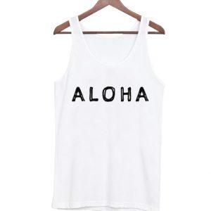 Aloha Vacation White Tank Top